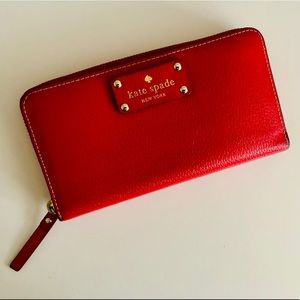 Kate Spade Zipper Wallet Red